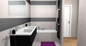 salle de bain grise et noire idees deco salle de bain With salle de bain mosaique grise