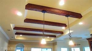Diy Hanging Lights On Beams  How To