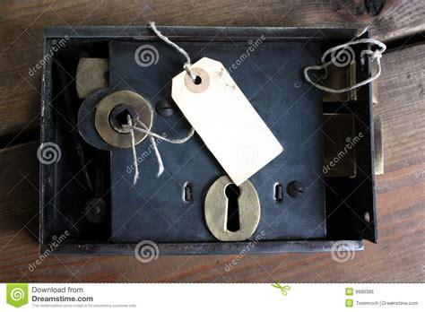 fashioned door lock  tag stock photo image