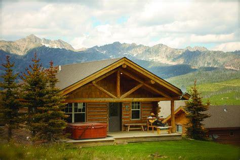 cabin in big vacation home cowboy heaven cabins big sky mt booking