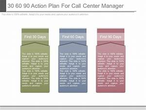 skillfully designed marketing presentation showing 30 60 With call center action plan template