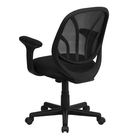flash furniture y go mid back black mesh computer task