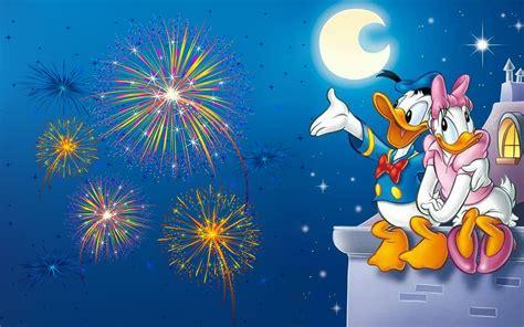 donald duck  daisy duck romantic evening watching
