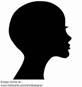 Bold Woman Face Silhouette Vector Graphic | Online Design ...