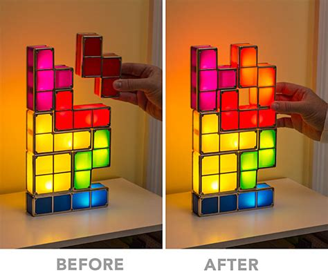 Tetris Stackable Led Desk L India by Tetris Stackable Led Desk L Thinkgeek