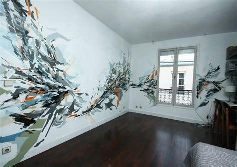 fresque murale dans un appartement