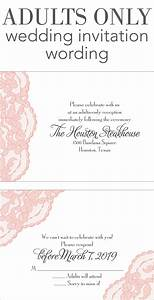 adults only wedding invitation wording invitations by dawn With wedding invitation wording just reception
