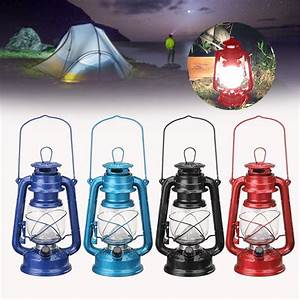 Vintage, Style, Portable, 15, Led, Lantern, Battery, Operated, Indoor, Outdoor, Garden, Fishing, Camping