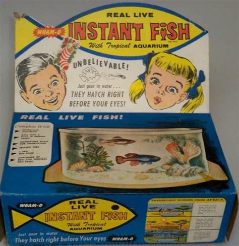 wham o toys wham o 1962 instant fish with aquarium vintage toys