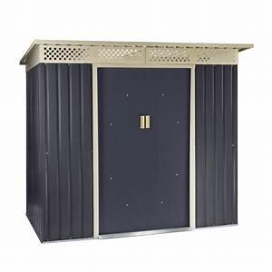 Gartenhaus Metall Pultdach : ger tehaus gartenhaus bristol metall 2 4 qm anthrazit ~ Eleganceandgraceweddings.com Haus und Dekorationen