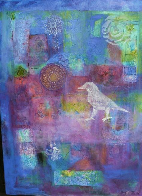 painting on plexiglass acrylic mixed media