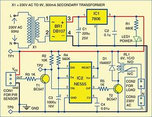 Simple Motion Detector Using Ne555 Timer Circuit