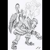 Pennywise Drawing Stephen Saw Horror Clown Drawings Coloring Kings Sketch Getdrawings Template sketch template