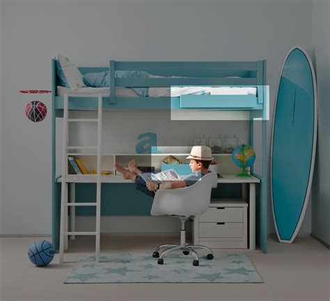 lit et bureau ado pack d 39 access lit mezzanine liso xl à prix so câ