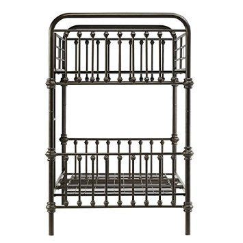 amazoncom kids bunk bed frame wrought iron cast metal