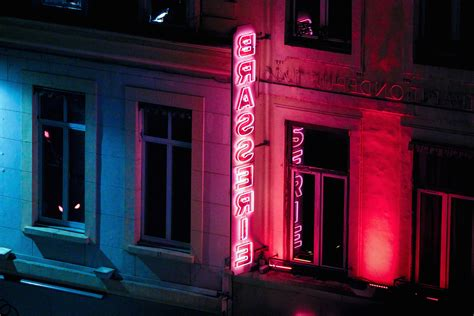 picture neon loghts sign urban street windows