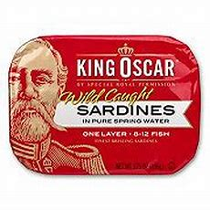 King Oscar Sardines In Pure Spring Water  Shop Seafood At