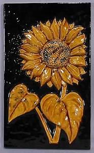 Sunflower Tile Plaque For Sale   Antiques.com   Classifieds