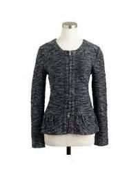 jcrew boucle peplum jacket  black lyst
