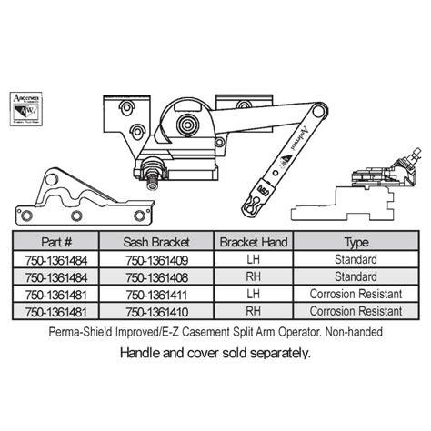 andersen sill mounted casement operator