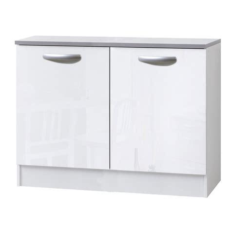 meuble cuisine 60 meuble de cuisine bas 2 portes blanc brillant h86x l120x