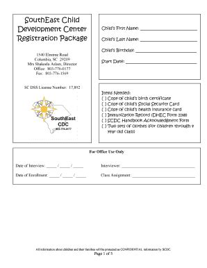 sc dss child care forms kids food forms and templates fillable printable