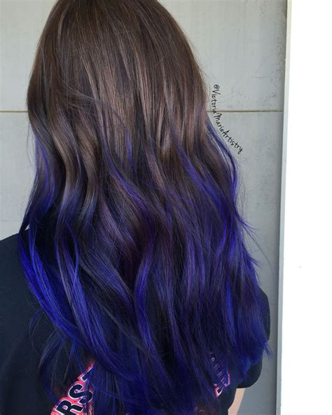 ombre colorful hair indigo hair colorful hair hair i ombre