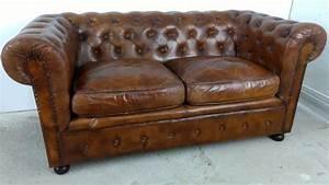 Couch Leder Cognac : details zu sofa 2 sitzer chesterfield cognac braun vintage leder couch art deco 50er design ~ Frokenaadalensverden.com Haus und Dekorationen