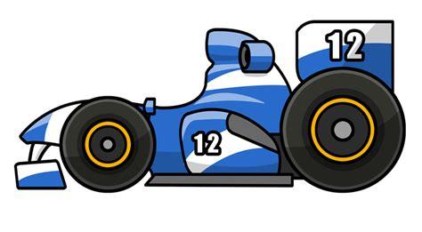 Blue Cartoon Race Cars