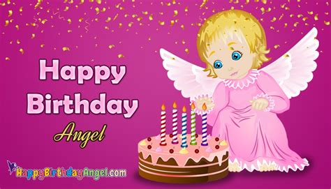 Angel Happy Birthday Cake Images, Pictures