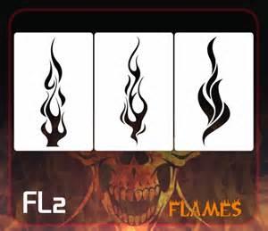 Flames Airbrush Stencils Templates