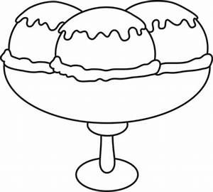 Ice cream black and white ice cream sundae bowl clipart ...