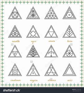 Set Of Geometric Shapes  Geometric Drawing  Triangle
