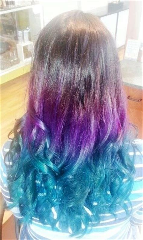 Purple And Turquoise Ombré Balayage And Ombre Pinterest