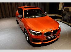 Valencia Orange BMW M135i On Display At Abu Dhabi Showroom