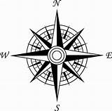 Compass Coloring Rose sketch template