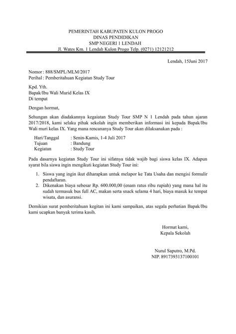 contoh surat pemberitahuan secara resmi contohsuratincom