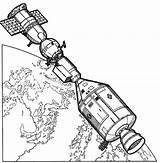 Coloring Nasa Space Travel Satellite Satelite Apollo Spacecraft Printable Solar System Getcolorings Outer Word Rocks sketch template