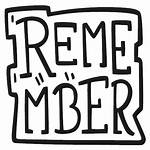 Remember Icon Sticker Basic Elements Planner Vectorified