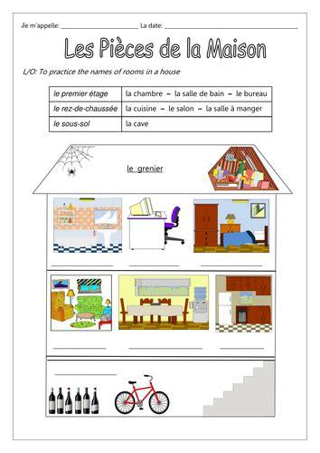 maison de la literie biganos les pi 232 ces de la maison by labellaroma teaching resources tes
