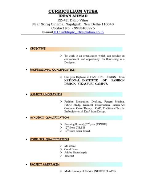 Types Of Resumes four types of resumes template design