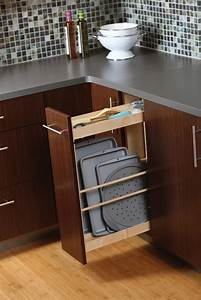 Cookie sheet storage rack cooking parchment paper sheets for Kitchen cabinets lowes with format papiers