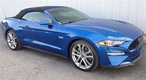 lightning blue  ford mustang gt convertible