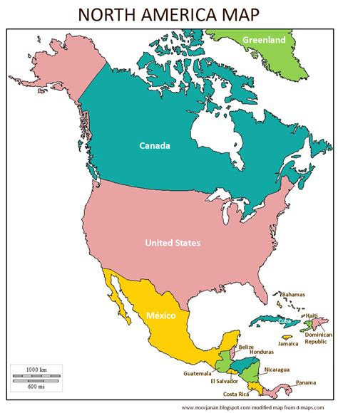 North America Map Countries