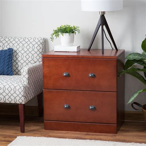 Cherry Filing Cabinet by Belham Living Cambridge Lateral Wood File Cabinet Rich