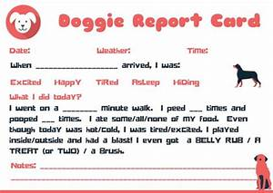 house sitter instructions template doggie report card design petsitter dogwalker dog