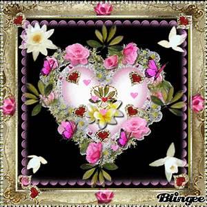 Herz Mit Blumen : imagem de das wundersch ne grosse herz mit blumen und roten herzen liebes geschenk sagen dir ~ Frokenaadalensverden.com Haus und Dekorationen