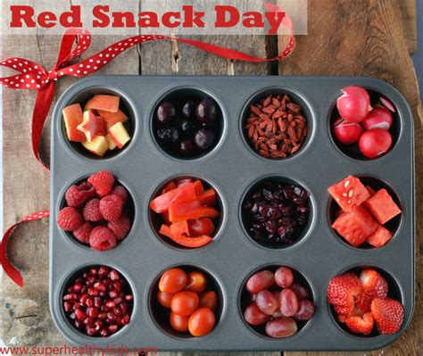 healthy red snack day kids buffet healthy ideas  kids