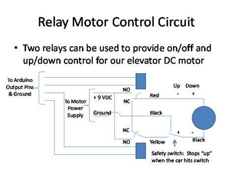 relay motor control circuit use arduino for projects