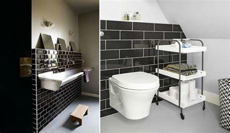 credence cuisine noir et blanc carrelage métro noir qui invite l élégance dans nos domiciles